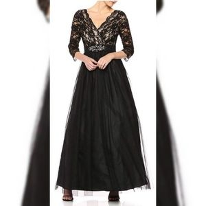 Jessica Howard Women's Lace Bodice Ballgown Size10